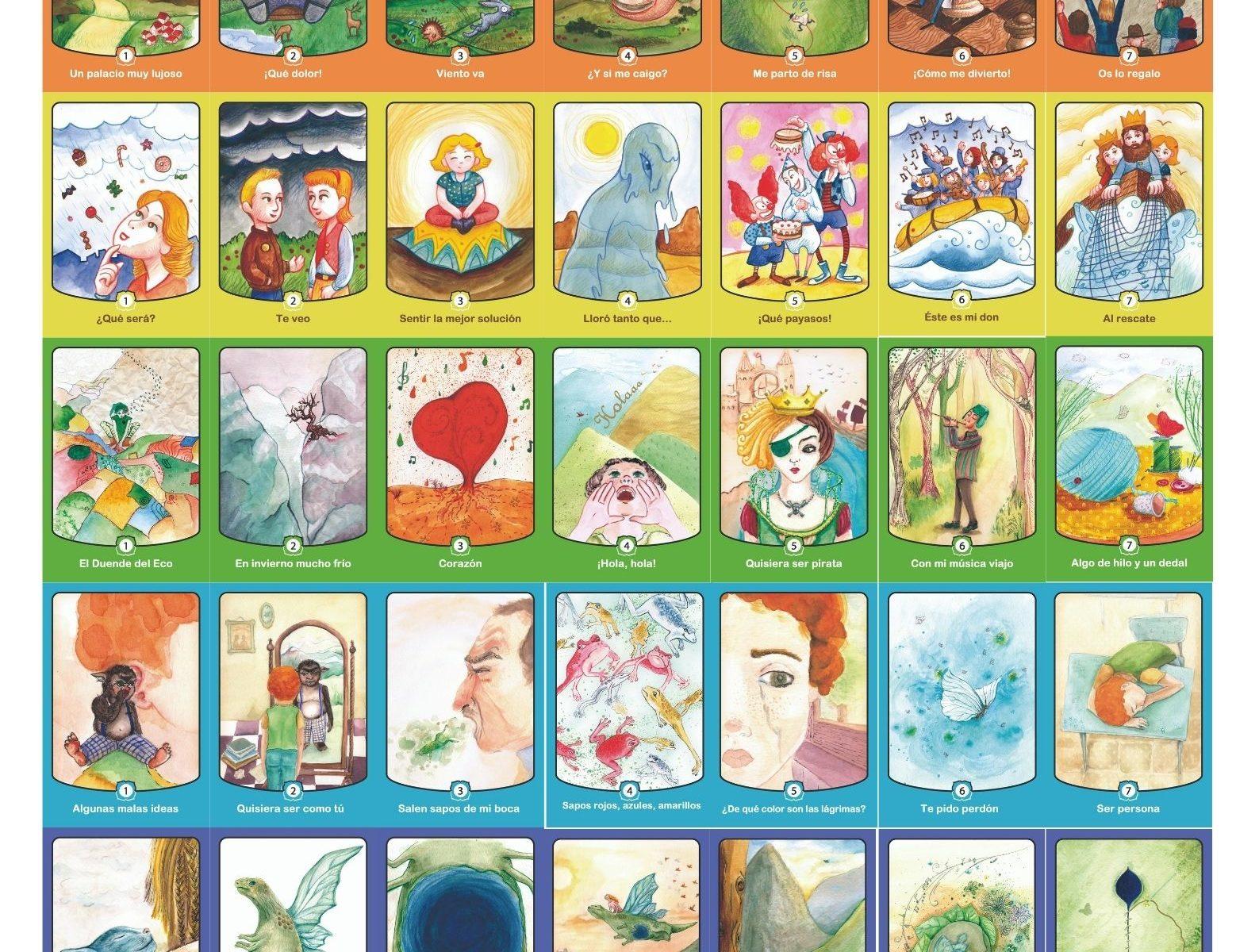 Cartas para crear jugando de Siete cuentos para crecer
